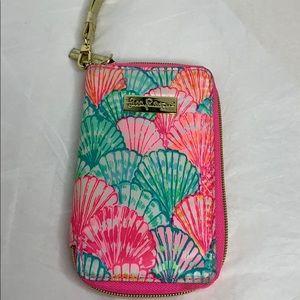 Lilly Pulitzer Tiki Palm iPhone 6/6S wristlet